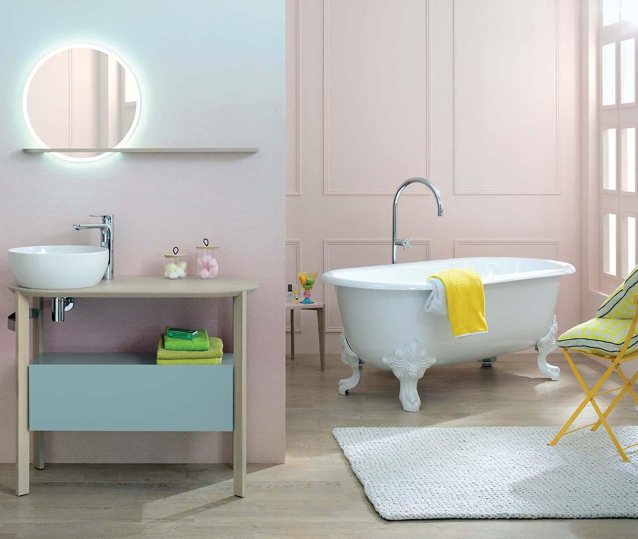 Gamme Sacha, meuble salle de bain rétro - Sanijura
