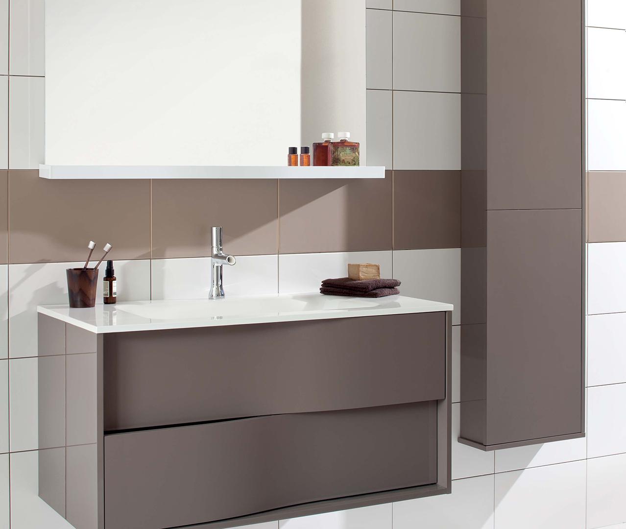 Gamme My Lodge, meuble salle de bain en bois - Sanijura