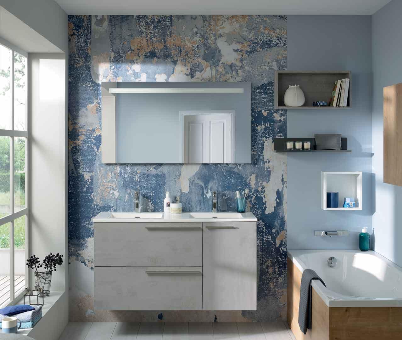 Meuble Salle De Bain Largeur 100 gamme liberty, meuble salle de bain tendance - sanijura