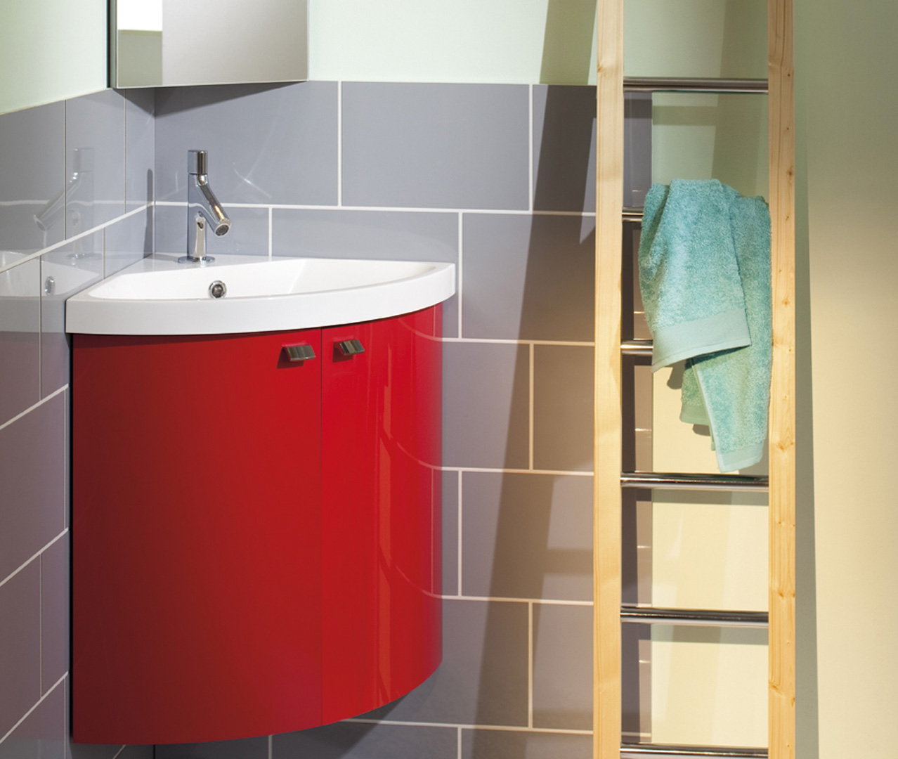 Vasque D Angle De Salle De Bain gamme pop, petit meuble de salle de bain - sanijura
