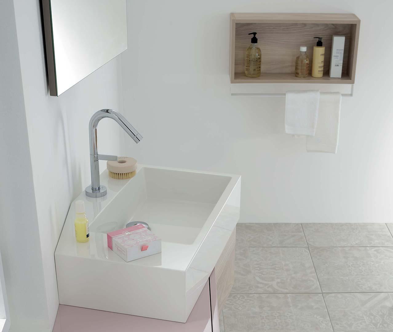 une salle de bain gomtrie variable