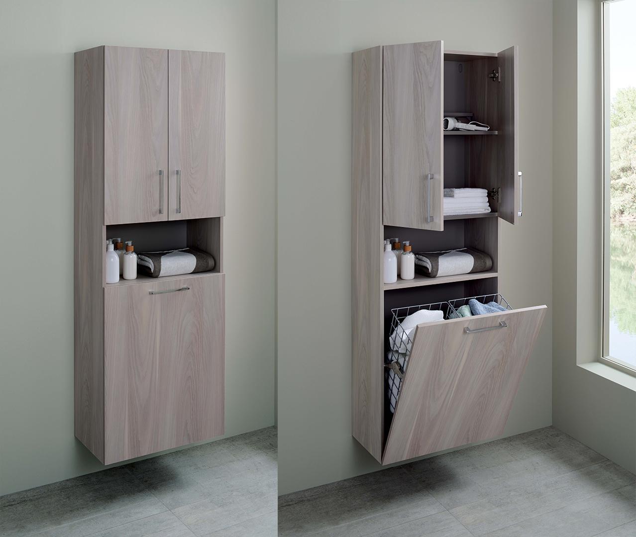 Meuble De Rangement De Salle De Bain gamme elemento, colonne salle de bain, colonne rangement
