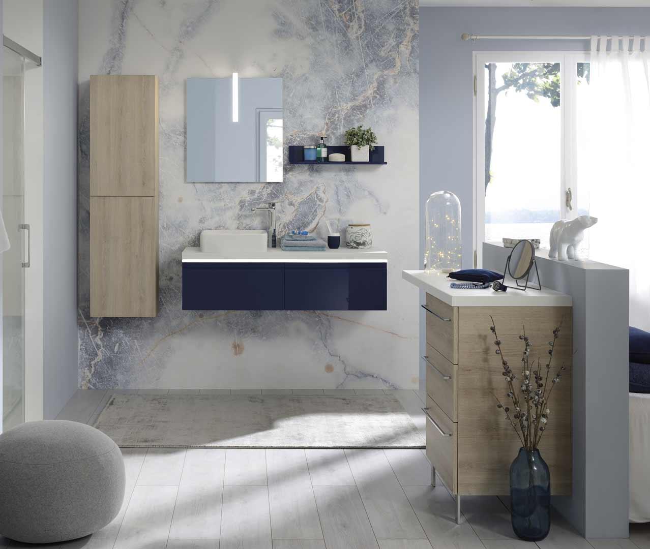 gamme halo meuble salle de bain design sanijura. Black Bedroom Furniture Sets. Home Design Ideas