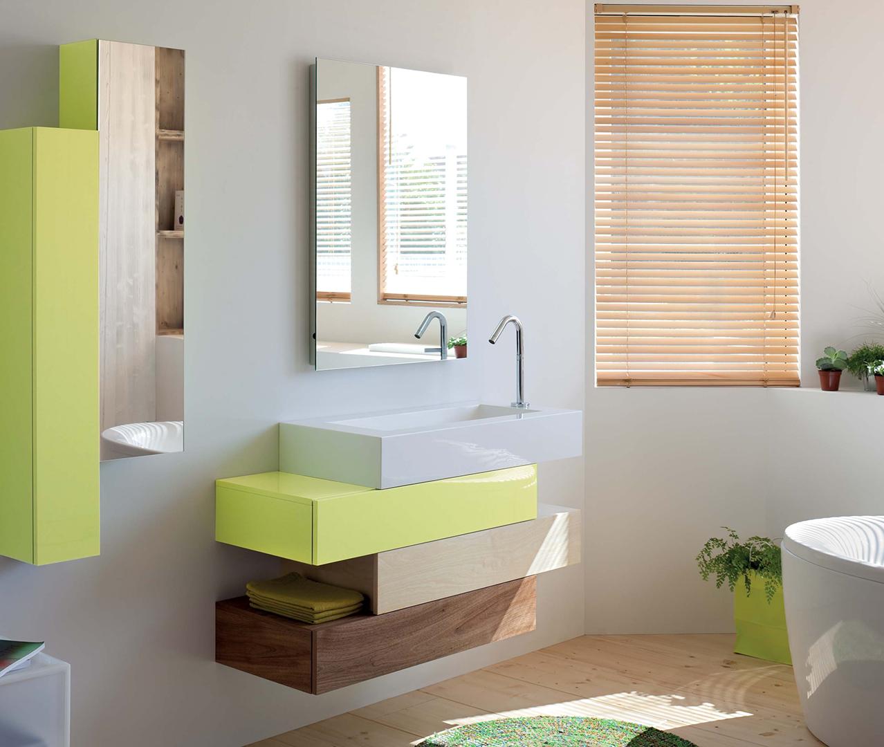 Gamme pacific meubles salle de bain moderne sanijura for Configurer une salle de bain