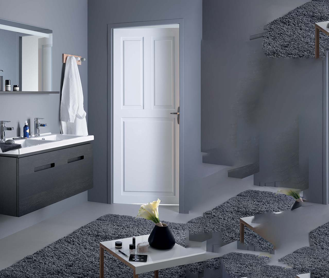 gamme essentiel meubles salle de bain zen sanijura. Black Bedroom Furniture Sets. Home Design Ideas