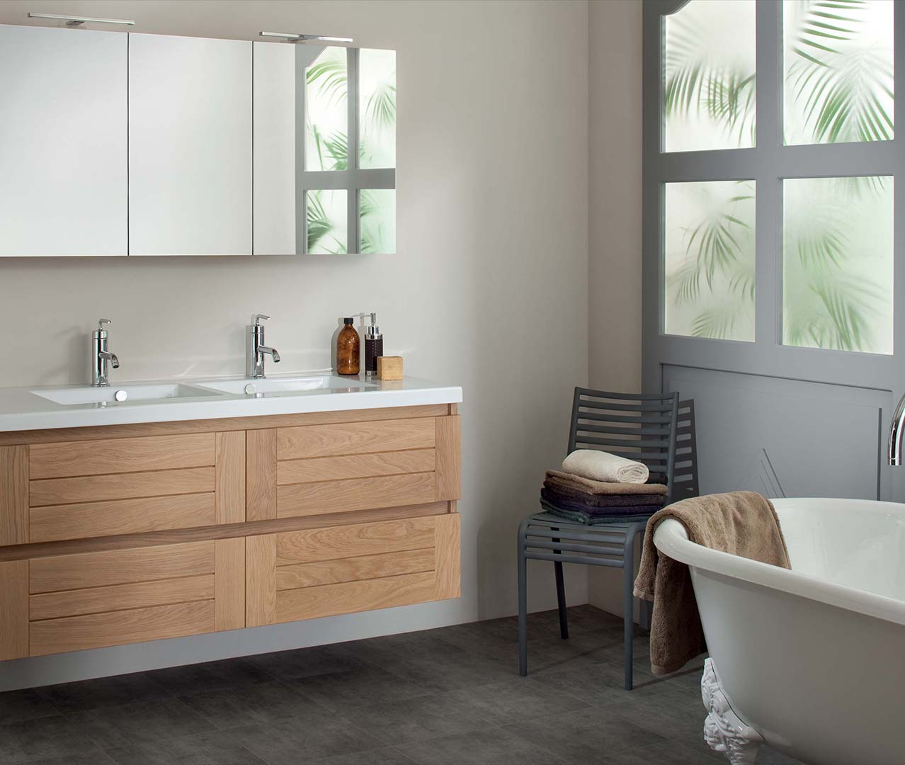 gamme lignum meuble salle de bain bois sanijura. Black Bedroom Furniture Sets. Home Design Ideas