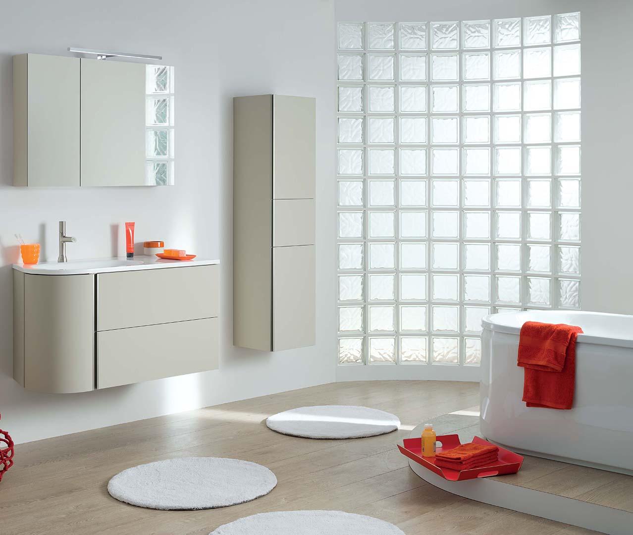 Gamme baila meuble salle de bain laque sanijura for Configurer une salle de bain