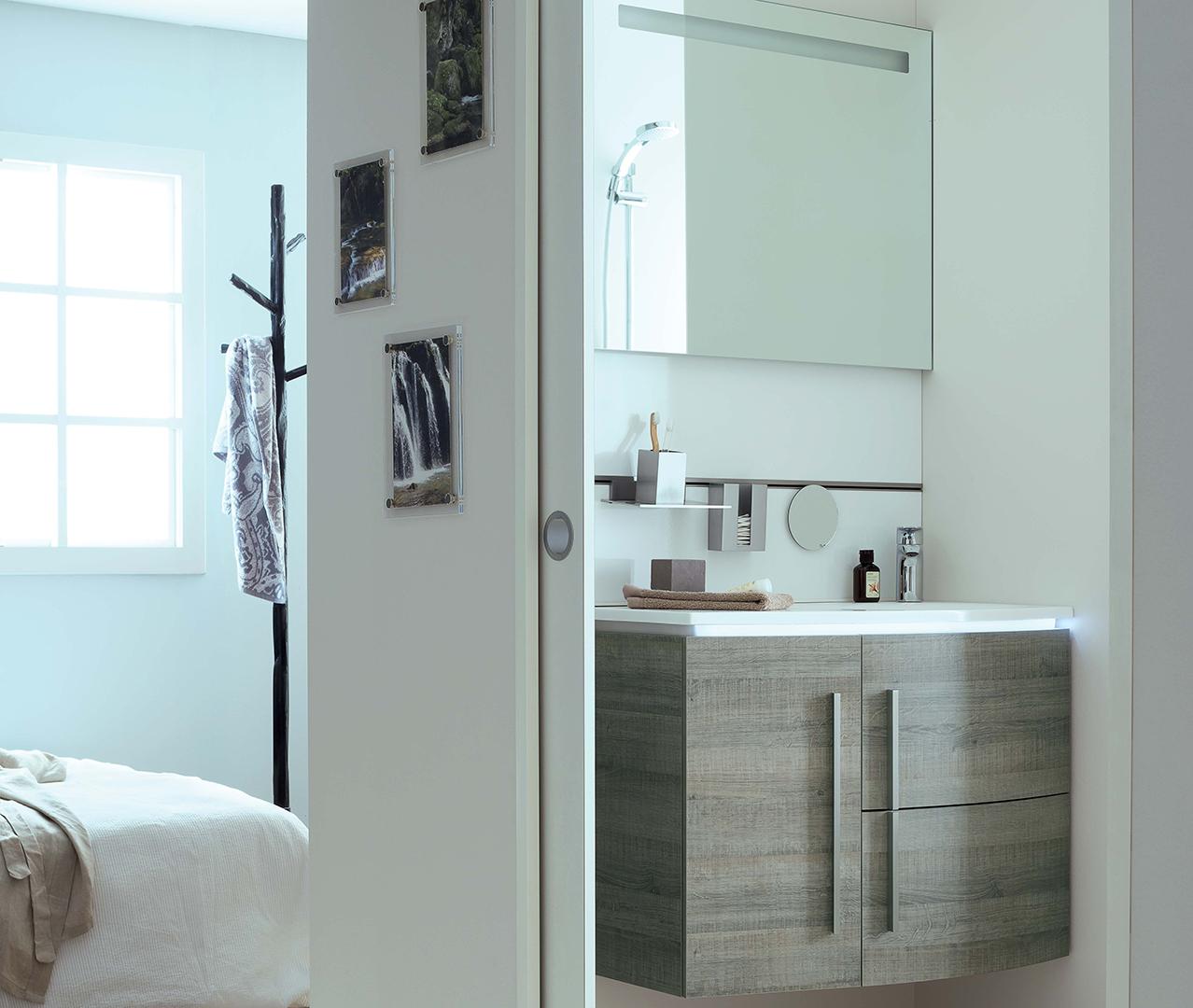 Gamme soon meuble salle de bain original sanijura - Meuble original salle de bain ...