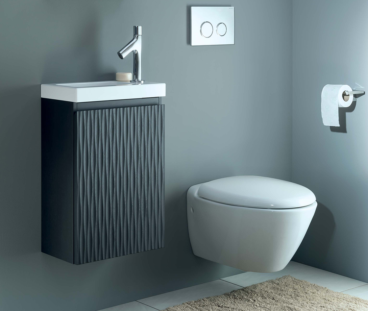 Gamme pop petit meuble de salle de bain sanijura for Dans un miroir obscur