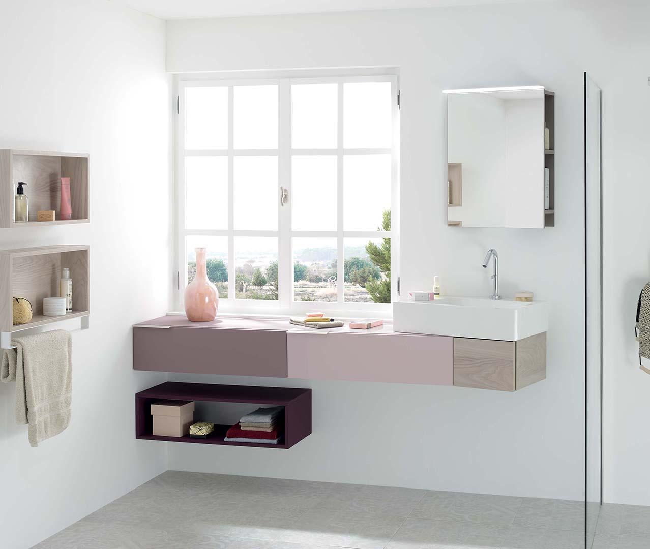 Gamme vertigo salle de bain design meuble sdb sanijura for Configurer une salle de bain