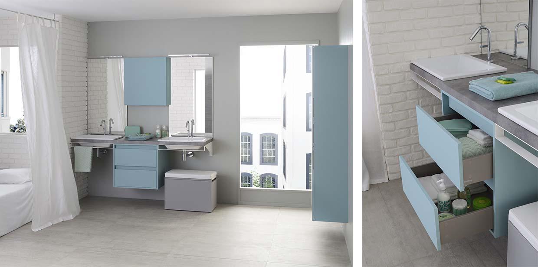 gamme mix city meuble salle de bain contemporain sanijura. Black Bedroom Furniture Sets. Home Design Ideas