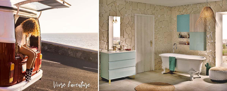 Illusion : Inspiration vacances pour les salles de bain : mer ...