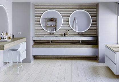 meuble de salle de bain Infinie scandinave - Sanijura