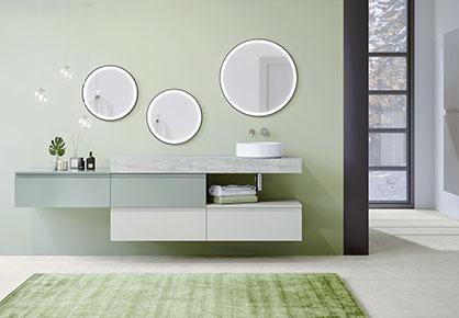 meuble de salle de bain Infinie verte - Sanijura