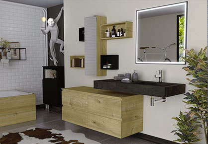 meuble de salle de bain Infinie vintage - Sanijura