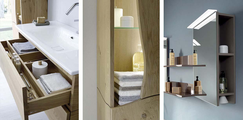 Gamme Inspiration montagne de meuble salle de bain, miroir - Sanijura
