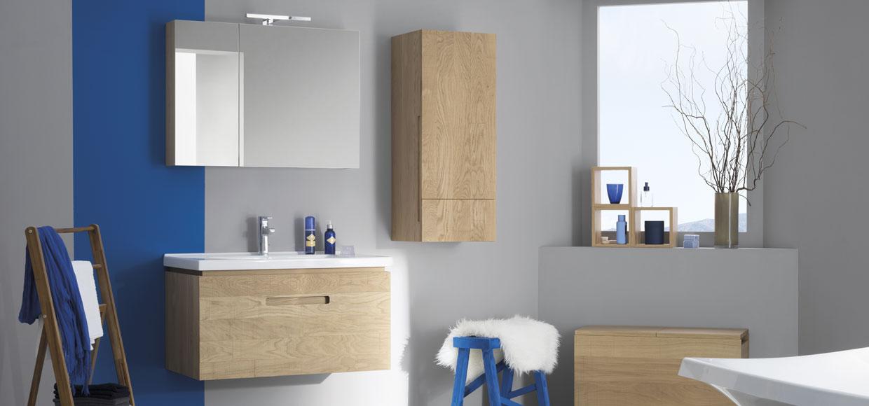 Salle de bain essentiel en bois massif - Sanijura