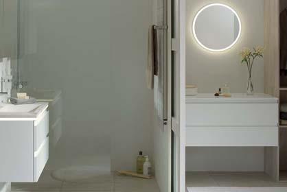 salle de bain luciole en laque blanc - Sanijura