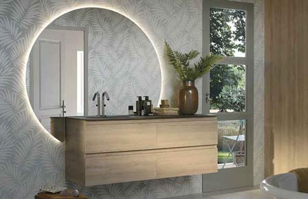 Salle de bain  halo bois massif - Sanijura